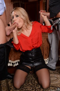 Nikky Thorne Pleasures Two Cocks At Once