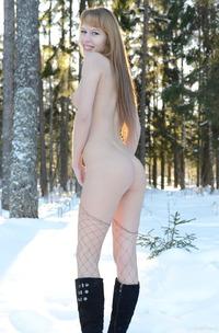 Winter Striptease By Sexy Teen Alma