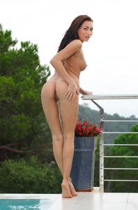Michaela Isizzu Posing Naked Outdoors