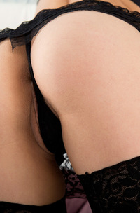 Laura Angelina Stripping Her Black Lingerie