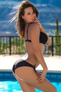 Raise In Black Bikini