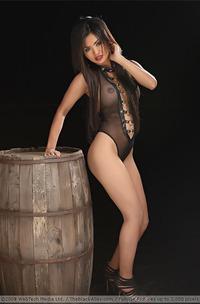 Arina Zhen In Hot Black Lingerie