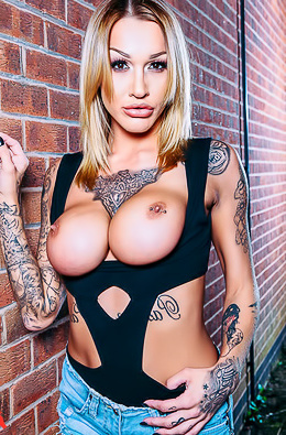 Busty Blonde Whore Chantelle Fox Shows Big Tits