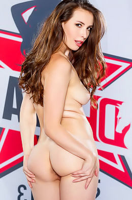 Hot Brunette Casey Calvert Strips And Poses Nude