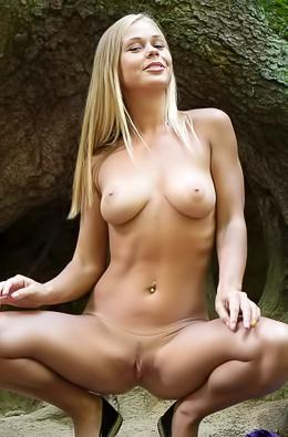 Busty Darina Nikitina in Forest