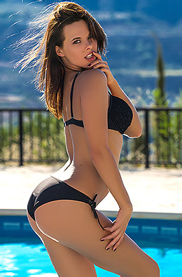 Raise In Black Bikini