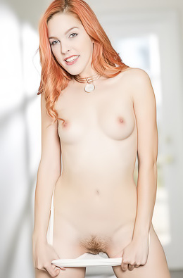 Hot Redhead Amarna Miller Strips And Spreads Her Twat