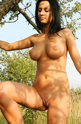 Doina on a meadow