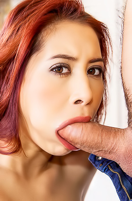 Cock Hungry Christy Charming Swallows A Fat Boner