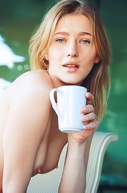 Skinny Teen Mila I Stripping With Morning Coffee