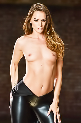 Tori Black In Sexy Leather Dress