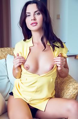 Small Titted Brunette Teen Jasmine Jazz