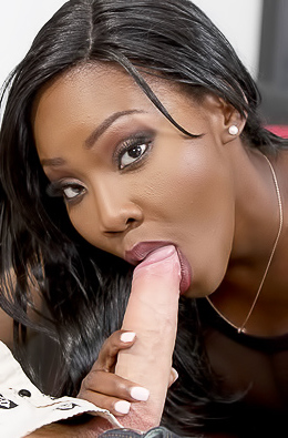 Ebony Model Osa Lovely Gets Cum In Mouth