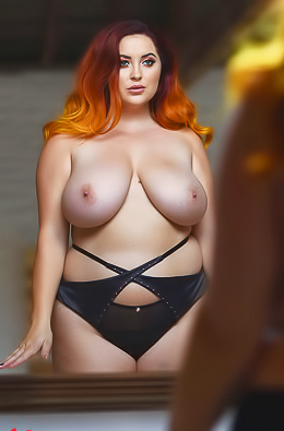 Lucy V In Sexy Black Lingerie