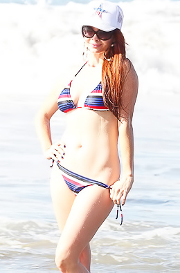 Phoebe Price Shows Off Her Huge Boobs In A Bikini