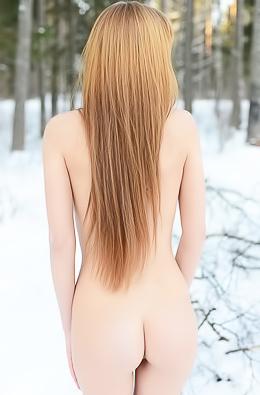 Sexy Teen Alma Stripping Outdoors