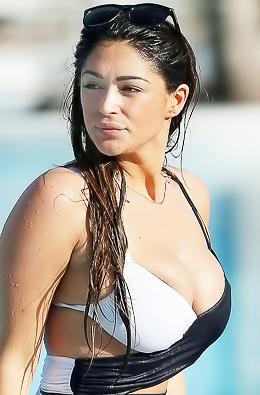 Brunette Babe Casey Batchelor In Monochrome Bikini