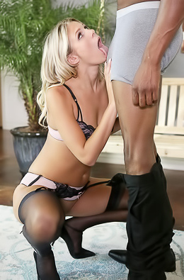 Blonde gets all the black cock she can handle