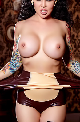 Busty nude babe