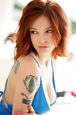Bree Daniels Slides Off Her Sexy Blue Dress