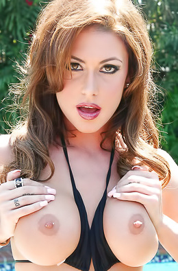 Bikini Pornstar Jessica Jaymes Pool Masturbating