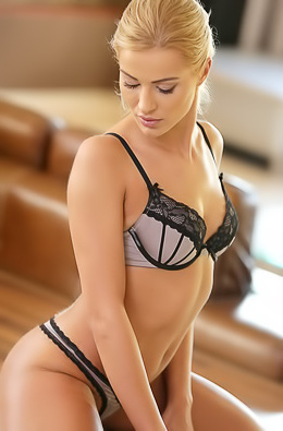 Gorgeous Blonde Chary Kiss Strips Off Her Sexy Bra picture gallery