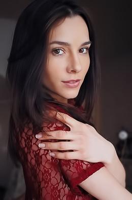 Cute Brunette Adel Morel