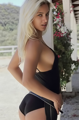 Gorgeous Uma Jolie Gets Naked On A Horse