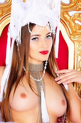 Pornstar Dani Daniels Gold Throne