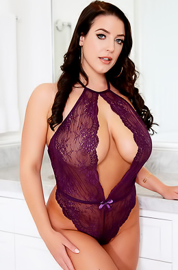 Stacked Busty Milf Angela White Strips Lingerie