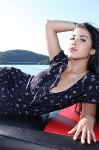 Petite Babe Lady Dee Shows Pussy On Yacht